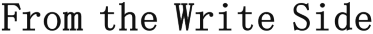 From the Write Side Logo